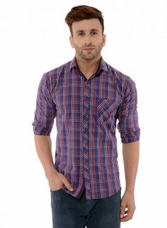 Buy Checked Brush Twill Casual Shirt Online at Low prices in India on Winsant  #shirts #casualshirt #mensfashion #fashionblogger #fashion #style #winsant #pinterestmarketing #pinterest Formal Shirts For Men, Online Shopping Websites, Trouser Jeans, Men Online, Workout Shirts, Autumn Fashion, Menswear, Men Casual, Autumn Style