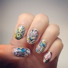 These nails belong in an art gallery. #Nails #Manicure #Art