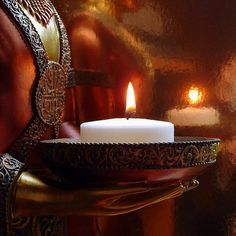Candle light - it creates a sacred space. Use of candles for good feng shui: http://fengshui.about.com/od/faq/f/feng-shui-candle-tips.htm