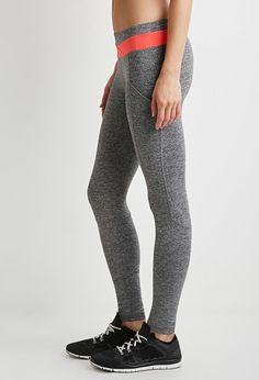 Heathered Colorblock Yoga Leggings Forever21 $22.99