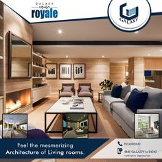 Every inch of the space has been designed to give drawing room modern look and feel with natural light. .#TheGalaxyGroup #GalaxyRoyale #LuxuriousResidential #GalaxyApartment #CommercialProject #ResidentialProject