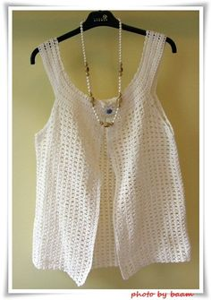 crochet blouse  (cotton yarn 4 ply) you can click in photo link to pattern