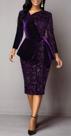 Cocktail Party Dress Back Slit Lace Panel Deep Purple Sheath Dress Purple Lace, Deep Purple, Tight Dresses, Casual Dresses, Sexy Dresses, Dresses For Sale, Dresses Online, Dress Sale, Purple Outfits