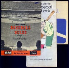 LOT OF 3 BASEBALL HANDBOOKS 1978 JIMMY THE GREEK 1964 SPORTING NEWS 1980 WILSON