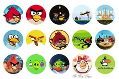 Angry Bird Bottle Cap images