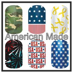 Jamberry Nail Wraps are made in America! Show your patriotism this 4th with these super cute wraps! www.abbeyparsley.jamberrynails.net