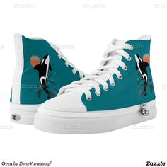 Orca Printed Shoes  #shoes , #hightop , #printedshoes, #HighTopZIPZ , #orca ,