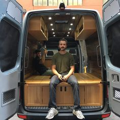 Van Conversions by Brawley Made and Vantage Point Custom vans, designing and building out custom cabinetry for these one-of-a-kind Sprinter van conversions. Sprinter Van Conversion, Cargo Van, Camper Makeover, Ford Transit, Custom Vans, Rv Campers, Custom Cabinetry, Campervan, Van Life