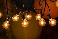 25ft 25 Leds G40 Globe Bulb String Light Clear Ball Vintage Bulb Indoor Outdoor Hanging Umbrella Patio String Lighting Fixture Exquisite Craftsmanship; Lights & Lighting