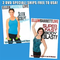 EXCLUSIVE 2-PACK! Ellen Barrett: Sculpt Sleek Express & Super Fast Body Blast #health #fitness #fit #TagsForLikes #TFLers #fitnessmodel #fitnessaddict #fitspo #workout #bodybuilding #cardio #gym #train #training #photooftheday #health #healthy #instahealth #healthychoices #active #strong #motivation #instagood #determination #lifestyle #diet #getfit #cleaneating #eatclean #exercise #fitnessfly