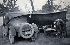 Car camping was popular in the 1920s;Vintage Camping; Rocky Mountain National Park.