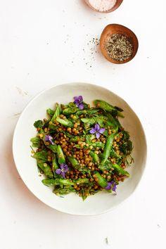 Herby Asparagus Lentil Salad