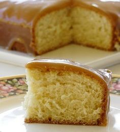 Caramel Cake, buttermilk in the cake and caramel sauce....my mom used to make a cake like this ...gotta try it!