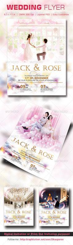 Ice Cream Shop Flyer Template Flyer template - wedding flyer