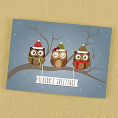 Owl Greetings Holiday Card. Visit us at altrisinc.carlsoncraft.com or call ALTRIS at 724-259-8338 to get started!