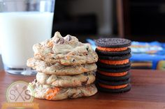 Halloween Oreo Pudding Cookies