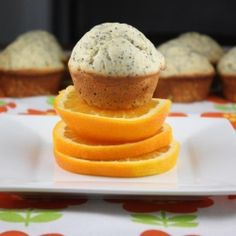 Orange poppy seed Chobani muffins.  Moist and protein-packed muffins perfect to start your day with or for a snack.