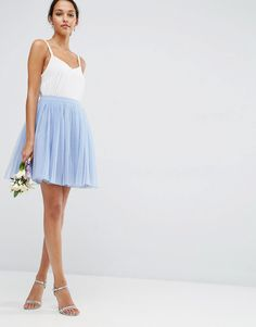 Image 1 of ASOS WEDDING Tulle Mini Prom Skirt with Multi Layers