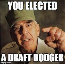 Image result for draft dodger trump