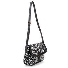 Aztec Summer Messenger Bag ($20) ❤ liked on Polyvore featuring bags, messenger bags, messenger bag, aztec print bag, aztec messenger bag, summer bags and courier bag