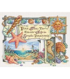 Dimensions Counted Cross Stitch Kit Simple TreasuresDimensions Counted Cross Stitch Kit Simple Treasures,