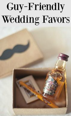 Check out 10 of our favorite guy-friendly wedding favors