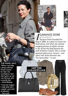 Garance Dore, if we choose not to wear much make up, be sure and have style no matter what, wear a smile with sparkly white teeth How To Have Style, Style Me, French Chic, French Style, Gamine Style, French Street Fashion, Parisian Chic, Fashion History, Autumn Winter Fashion