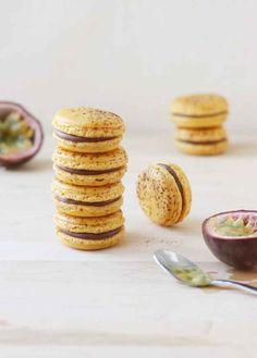 Milk Chocolate Passion Fruit Macaron