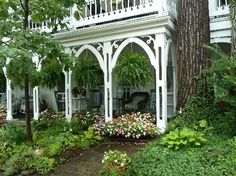 Chautauqua Institution - Beautiful Houses and Gardens - 31 Clark Avenue - Golding Annex (circa 1900) - more photos and info at Chautauqua Institution Archives http://chautauqua.pastperfect-online.com/34268cgi/mweb.exe?request=record;id=A89D4C80-AE51-4664-8343-430881346215;type=301