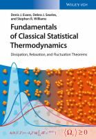 Fundamentals of classical statistical thermodynamics : dissipation, relaxation and fluctuation theorems / Denis J. Evans, Debra J. Searles, and Stephen R. Textbook, The Creator, Free Apps, This Book, Relax, Joy, Science, Evans, Audiobooks