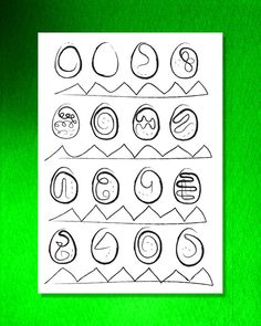 Printable colour it yourself Easter Eggs pattern by PygmyStore