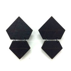 Mori Collective's jewelry is made from birch ply wood, and laser cut and assembled in Helsinki. Color: BlackSize: Height of the earring is cm. Birch Ply, Diamond Earrings, Metal, Silver, Collection, Color, Black, Jewelry, Diamonds