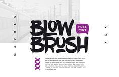 BlowBrush | Font Bundles