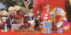 Christmas Time - A Retro Christmas Crib Paper Model - by Love Making Things - == -  This really beautiful Retro Style Christmas Crib was preserved and is shared by Love Making Things website.  - == - == -  Este belo Presépio de Natal em Estilo Retrô foi preservado e é compartilhado pelo site Love Making Things.
