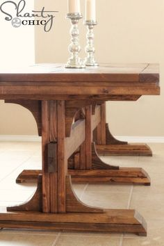 ***I have completed the matching benches to this table and you can get the plans for the benches HERE!*** Happy Friday! Holy moly, I am so excited to share my latest build with you! I had to take a break from all the Christmas posts to share my new farmhouse table because I just couldn't {...Read More...}