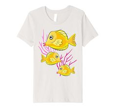 Yellow Tang Tropical Fish Scuba Diving Kids T-Shirt Amazon Merch, Tropical Fish, Branded T Shirts, Scuba Diving, Fashion Brands, T Shirts For Women, Yellow, Kids, Stuff To Buy