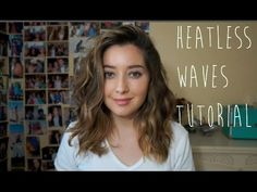 heatless waves for shorter hair