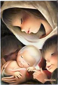 Juan Ferrandiz (Испания) Mother Mary Images, Mother Pictures, Vintage Christmas Cards, Vintage Cards, Christian Images, Happy Birthday Jesus, Madonna And Child, Faith In Love, Blessed Mother