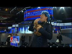 Stephen Colbert Visits the Democratic National Convention to Try to Get on Stage