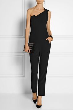 Minimal and Classic Style // Roland Mouret | Nortoni stretch-crepe jumpsuit