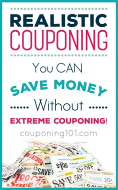 Realistic Couponing You do NOT have to spend hours clipping coupons. Learn how to set realistic expectations and save money without extreme couponing. Extreme Couponing, How To Start Couponing, Couponing For Beginners, Couponing 101, Save Money On Groceries, Ways To Save Money, Money Tips, Money Saving Tips, Money Savers