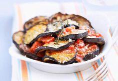Gratin d'aubergines et tomatesVoir la recette du gratin d'aubergines et tomates