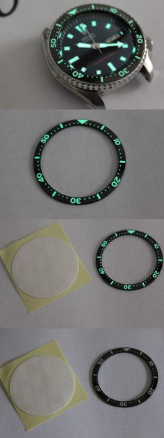 Other Watch Parts and Tools 180246: Seiko Skx007, Skx009, And Skx173 Fully Lumed Ceramic Bezel Insert BUY IT NOW ONLY: $45.0