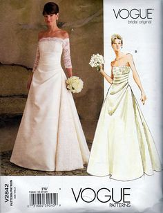 Vogue off the Shoulder Bridal Gown with Below by TheGrannySquared