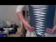 How to Dress 18th Century- How To Put On 18th Century Front Lacing Stays