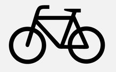 public domain bicycle logos at the Noun Project
