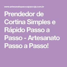 Prendedor de Cortina Simples e Rápido Passo a Passo - Artesanato Passo a Passo! Sisal, Plain Curtains, Handmade Crafts
