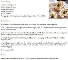 Mitten Muffuletta Tea Sandwiches http://www.teatimemagazine.com/mitten-muffuletta-tea-sandwiches-recipe/