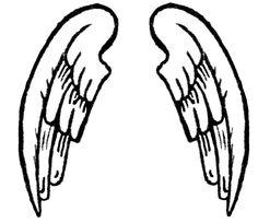 cartoon wings see my cartoon angel wings pictures clipart rh pinterest com angel wings cartoon drawing angel wings cartoon simple