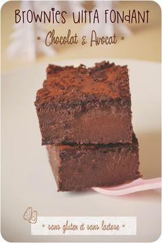 ..Brownies chocolat et avocat (sans gluten et sans lactose)..